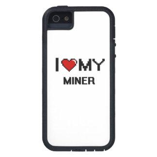 Amo a mi minero iPhone 5 funda