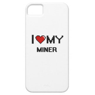 Amo a mi minero iPhone 5 Case-Mate funda