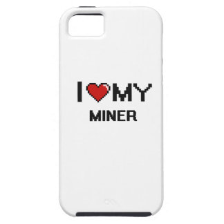 Amo a mi minero iPhone 5 carcasas
