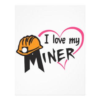 Amo a mi minero membrete a diseño