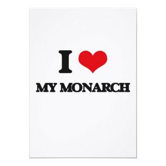 Amo a mi monarca invitación 12,7 x 17,8 cm