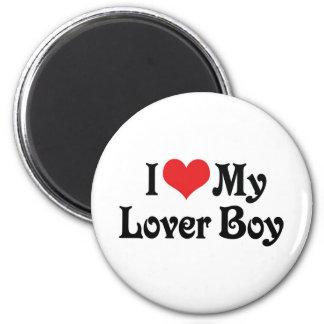 Amo a mi muchacho del amante imán redondo 5 cm