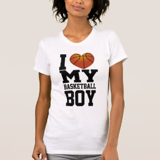 Amo a mi muchacho del baloncesto camisetas