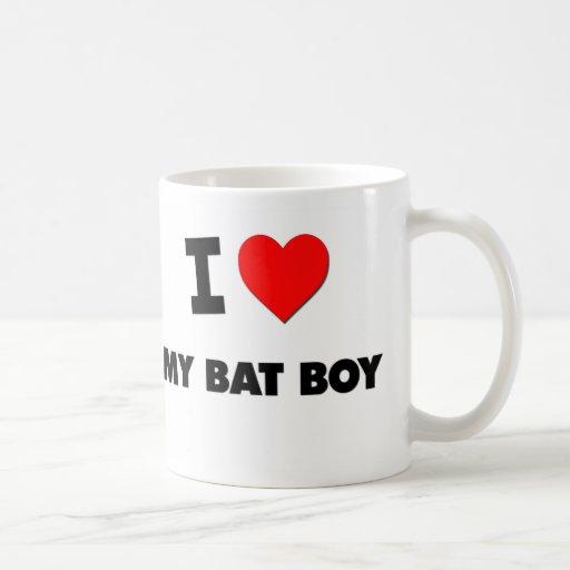 Amo a mi muchacho del palo taza de café