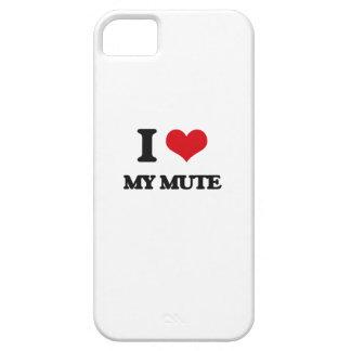Amo a mi mudo iPhone 5 cárcasas