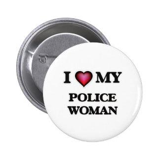 Amo a mi mujer de la policía pin redondo de 2 pulgadas