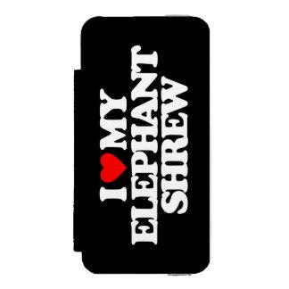 AMO A MI MUSARAÑA DEL ELEFANTE FUNDA BILLETERA PARA iPhone 5 WATSON