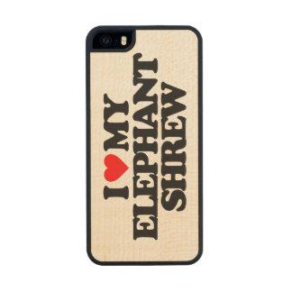 AMO A MI MUSARAÑA DEL ELEFANTE FUNDA DE ARCE CARVED® PARA iPhone 5 SLIM