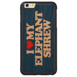 AMO A MI MUSARAÑA DEL ELEFANTE FUNDA DE CEREZO BUMPER CARVED® PARA iPhone 6 PLUS