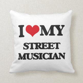 Amo a mi músico de la calle almohada