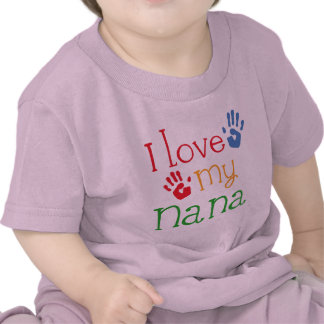 Amo a mi Nana Handprints Camisetas
