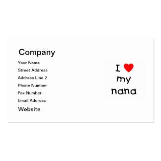 Amo a mi Nana Tarjetas De Visita