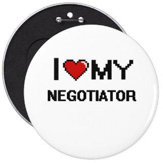 Amo a mi negociador chapa redonda 15 cm