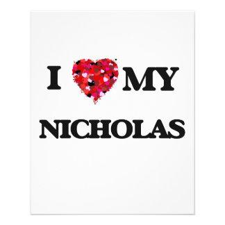"Amo a mi Nicholas Folleto 4.5"" X 5.6"""