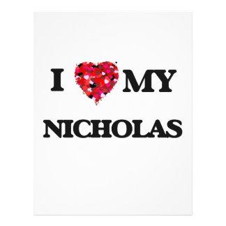 "Amo a mi Nicholas Folleto 8.5"" X 11"""