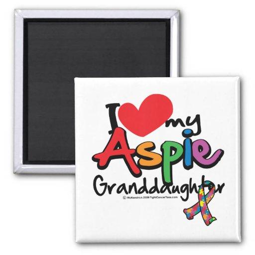 Amo a mi nieta de Aspie Imanes Para Frigoríficos