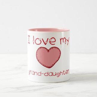 Amo a mi nieta taza de dos tonos