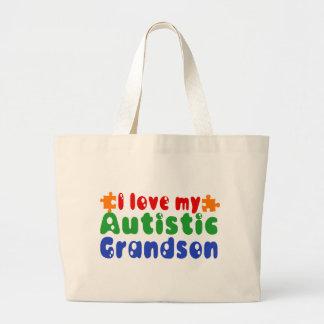 Amo a mi nieto autístico bolsa de mano
