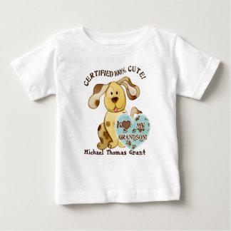 Amo a mi nieto, camiseta personalizada del bebé