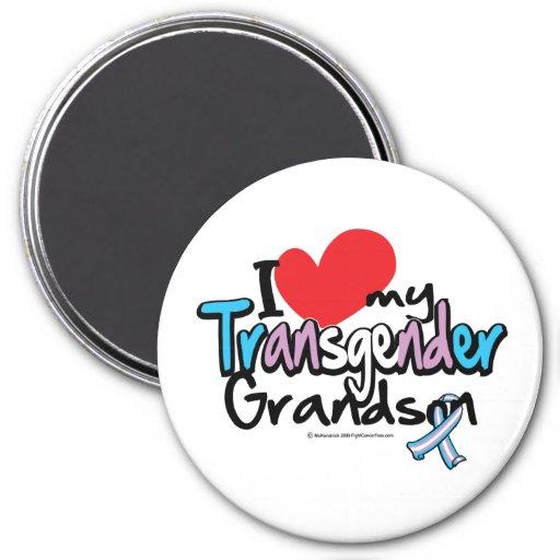 Amo a mi nieto del transexual imán redondo 7 cm