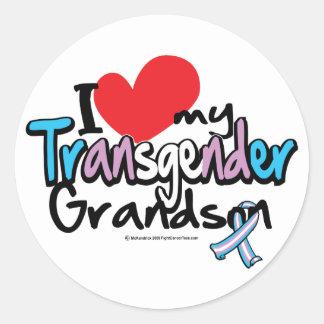 Amo a mi nieto del transexual pegatina redonda