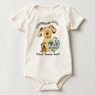Amo a mi nieto, enredadera personalizada del bebé body para bebé