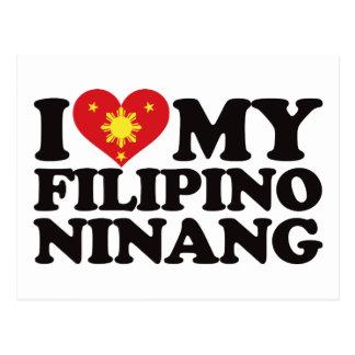 Amo a mi Ninang filipino Tarjeta Postal
