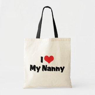 Amo a mi niñera bolsa tela barata