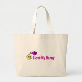 Amo a mi niñera bolsas de mano