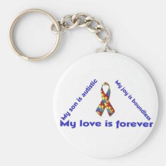 Amo a mi niño con el autismo - desi único del llav llaveros