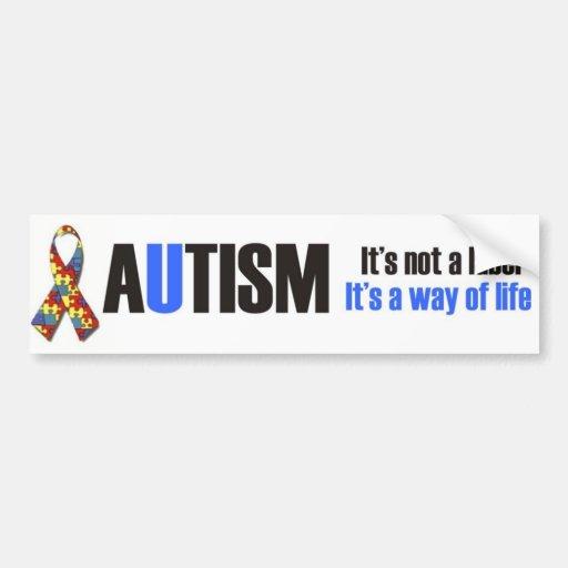 Amo a mi niño con el autismo - desig único del peg etiqueta de parachoque