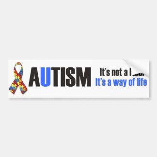 Amo a mi niño con el autismo - desig único del peg pegatina para auto