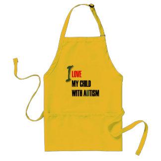 Amo a mi niño con el autismo - diseño único del de delantal