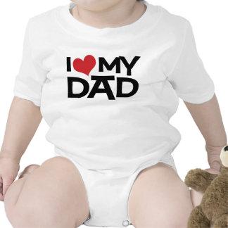 Amo a mi niño del día de padre del papá camiseta