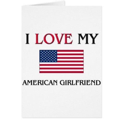 Amo a mi novia americana tarjetón