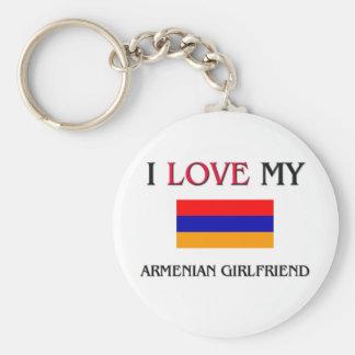 Amo a mi novia armenia llaveros personalizados