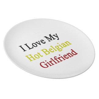 Amo a mi novia belga caliente platos para fiestas
