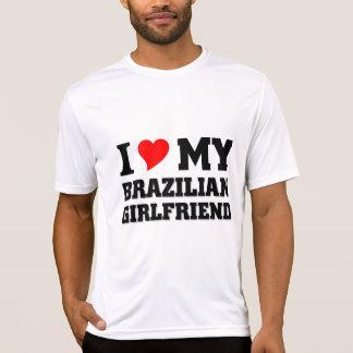 Amo a mi novia brasileña playeras