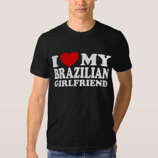 Amo a mi novia brasileña remera