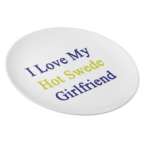 Amo a mi novia caliente sueco platos