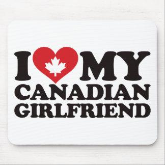 Amo a mi novia canadiense alfombrillas de ratón