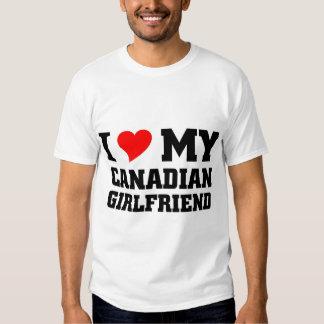 Amo a mi novia canadiense playeras
