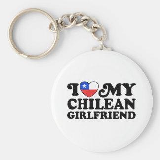 Amo a mi novia chilena llavero redondo tipo pin