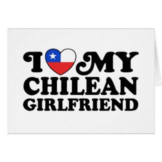 Amo a mi novia chilena tarjeta de felicitación