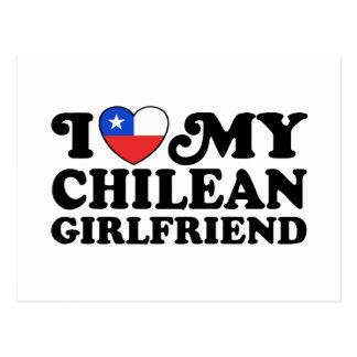 Amo a mi novia chilena tarjetas postales
