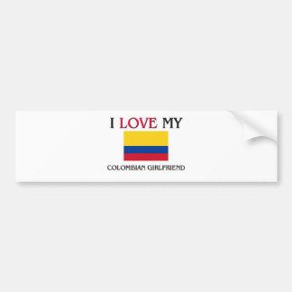Amo a mi novia colombiana pegatina para auto