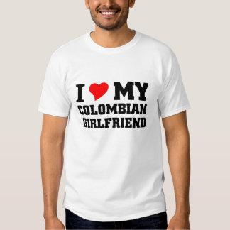 Amo a mi novia colombiana remera