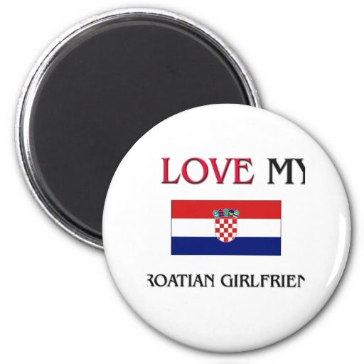 Amo a mi novia croata imán