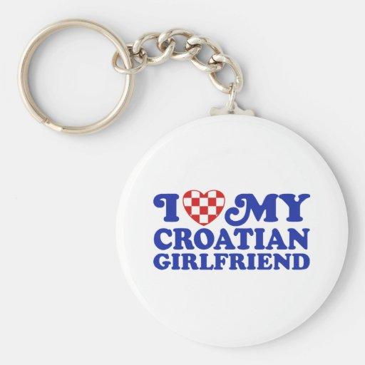 Amo a mi novia croata llavero personalizado
