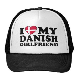 Amo a mi novia danesa gorras de camionero